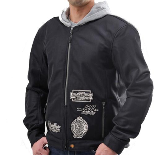 取寄 HBJ-038 93888 【季節商品】HBJ-038 メッシュジャケットパーカー ブラック L HenlyBegins(ヘンリービギンズ) ブラック 1着