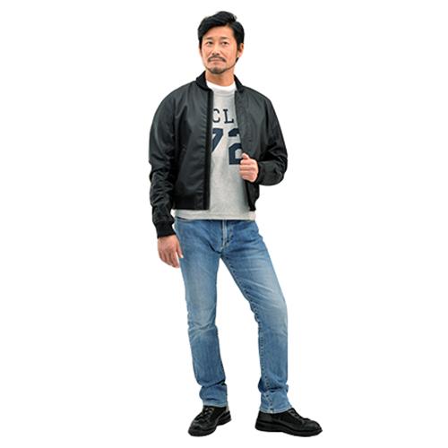 ウェア・ジャケット・パンツ 94770 DH-006 ナイロンツイルMA-1ジャケット ブラック M デイトナ