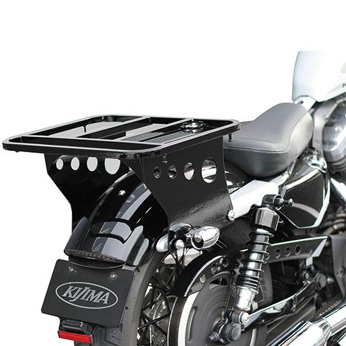HD-08280 ツーリングキャリア デタッチャブルマウント Sスター ブラック キジマ 天板サイズ:縦360×横435mm 1個