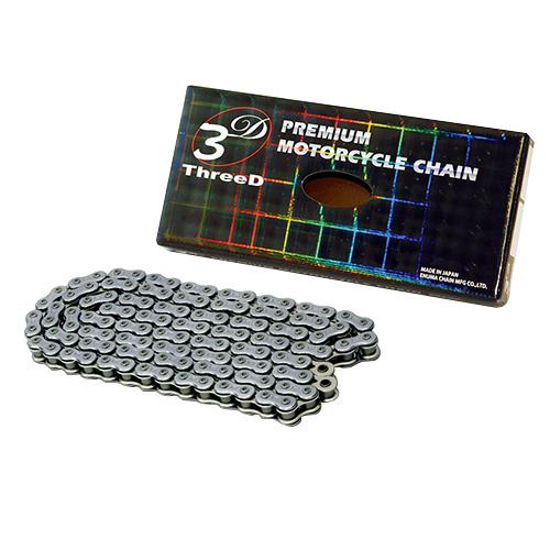 シールチェーン(SX2リング) ThreeD 520SP(CR/NP)-100 ThreeD 520SP(CR/NP)-100L シルバー EKチェーン 520-100L 1本