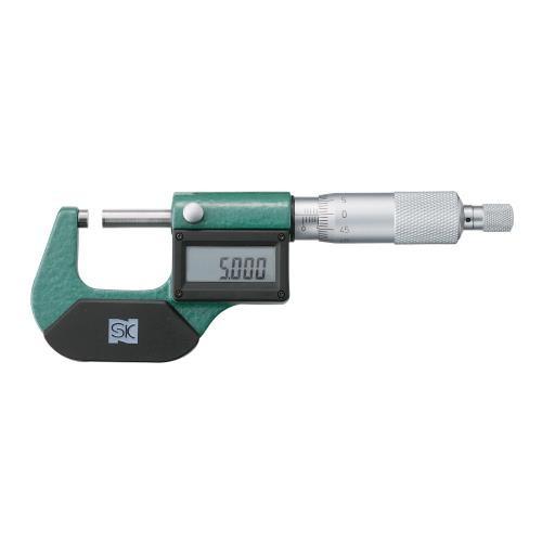 MCD130-25D デジタルマイクロメータ MCD130-25D SKブランド (本体全長×本体全幅×本体厚さ):160×60×23 1個