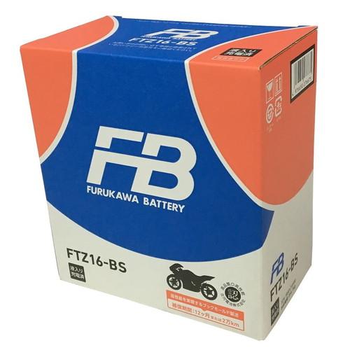 バイクバッテリー FTZ16-BS FTZ16-BS (液入充電済) 古河電池