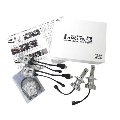 取寄 H8-LED-A Let's LED ANGLER H8/9/11/16 9600LM 2個セット サンタワールド 1セット(2個入)