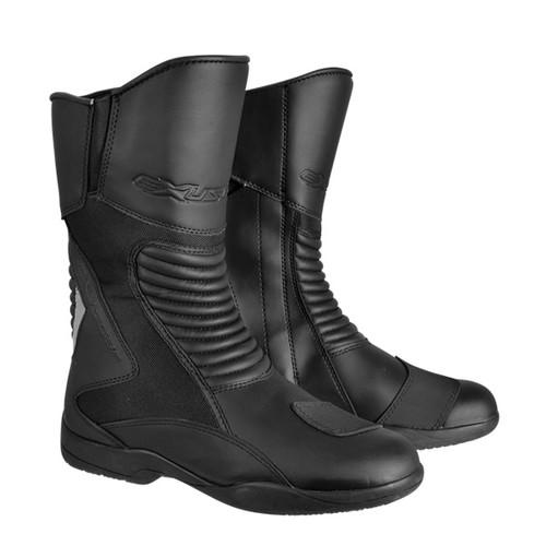 取寄 ESBT1101WBK25.5 E-SBT1101 防水ロングツーリングブーツ #40 25.5 ブラック EXUSTAR(エグザスター) ブラック 1足
