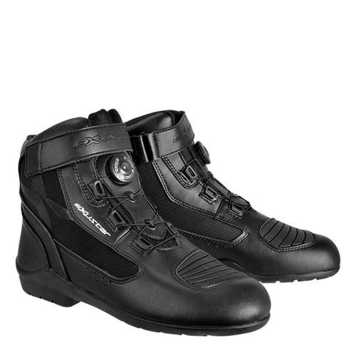 取寄 ESBT271WBK26.5 E-SBT271W 防水ショートツーリングブーツ #42 26.5 ブラック EXUSTAR(エグザスター) ブラック 1足