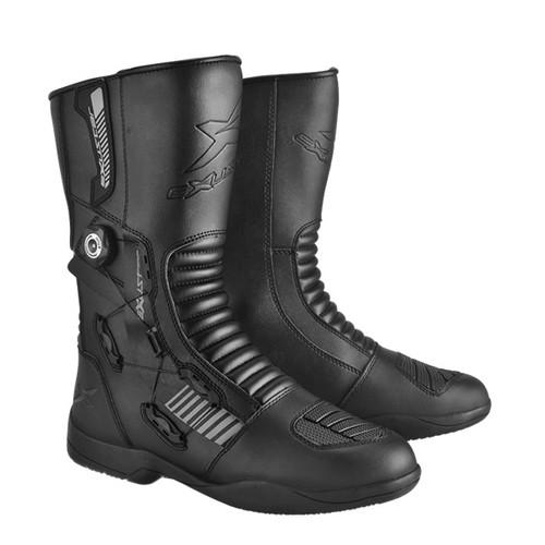 ウェア・ジャケット・パンツ ESBT1121WBK25.5 E-SBT1121W 防水ロングツーリングブーツ #40 25.5 ブラック EXUSTAR[エグザスター]