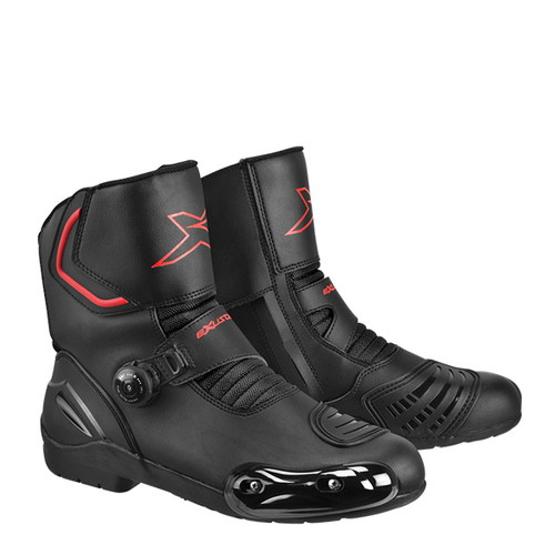取寄 ESBR2141WBK27.5 E-SBR2141W 防水ショートツーリングブーツ #44 27.5 ブラック EXUSTAR(エグザスター) ブラック 1足