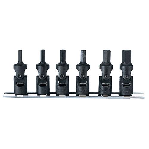 取寄 RS3430M/6 RS3430M/6 3/8(9.5mm)SQ. ユニバーサルヘックスビットソケットレールセット 6ヶ組 ko-ken(コーケン) 1セット