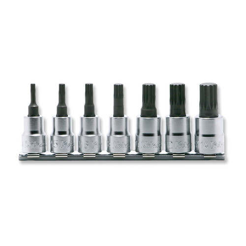 取寄 RS3020/7-L50 RS3020/7-L50 3/8(9.5mm)SQ. 3重4角ビットソケット(XZN規格)レールセット 全長50mm 7ヶ組 ko-ken(コーケン) 1セット
