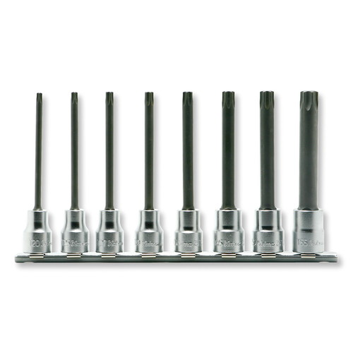 取寄 RS3025/8-L100RH RS3025/8-L100RH 3/8(9.5mm)SQ. イジリ止めトルクスビットソケット(丸軸)レールセット 8ヶ組 ko-ken(コーケン) 1セット