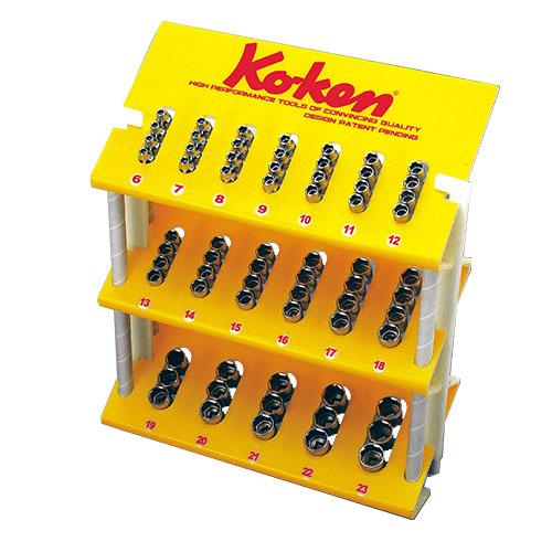 取寄 3240M-05 3240M-05 3/8(9.5mm)SQ. ソケットディププレイスタンドセット 67ヶ組 ko-ken(コーケン) 1セット