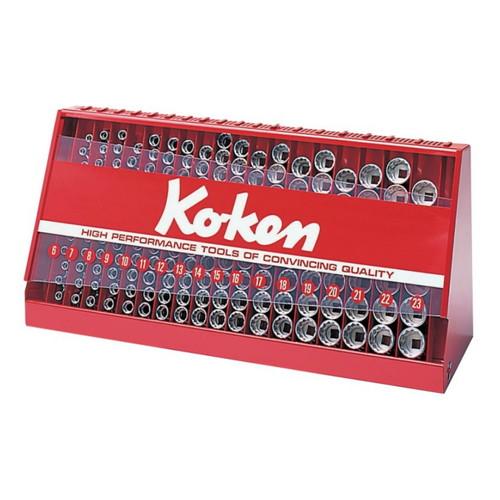 取寄 S3240A-00 S3240A-00 3/8(9.5mm)SQ. ソケットディププレイスタンドセット 126ヶ組 ko-ken(コーケン) 1セット