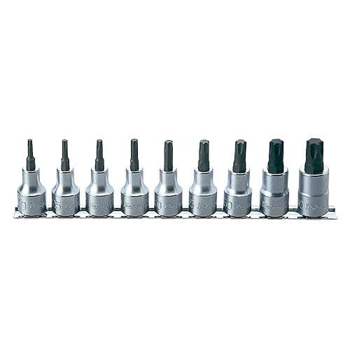 取寄 RS4025/9-L60 RS4025/9-L60 1/2(12.7mm)SQ. トルクスビットソケットレールセット 全長60mm 9ヶ組 ko-ken(コーケン) 1セット