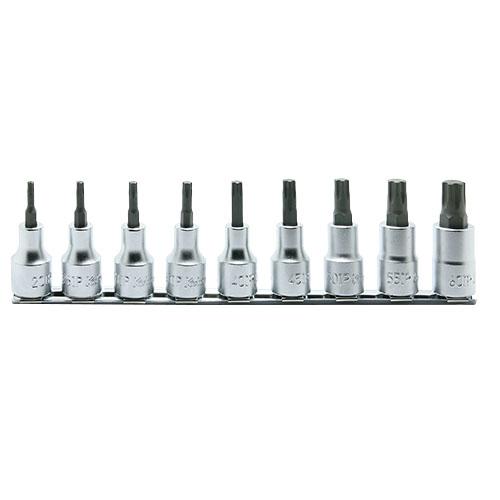 取寄 RS4025/9-IP RS4025/9-IP 1/2(12.7mm)SQ. トルクスプラスビットソケットレールセット 全長60mm 9ヶ組 ko-ken(コーケン) 1セット