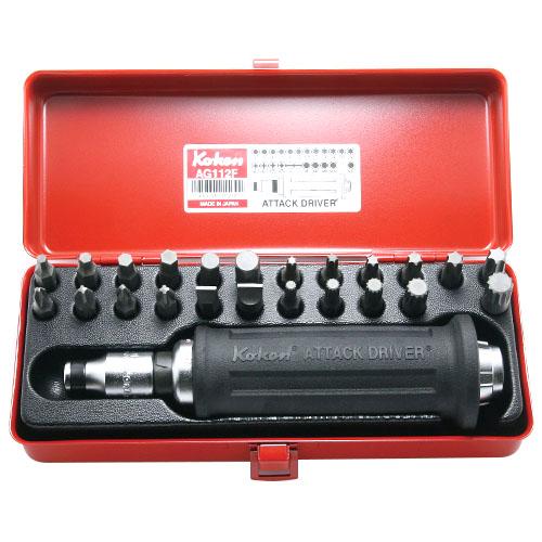取寄 AG112F AG112F 1/2(12.7mm)SQ. アタックドライバーセット 25ヶ組 ko-ken(コーケン) 1セット