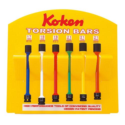 取寄 KP14101/6S KP14101/6S 1/2(12.7mm)SQ. インパクトトーションバー(薄肉)ディスプレイスタンドセット 6ヶ組 ko-ken(コーケン) 1セット
