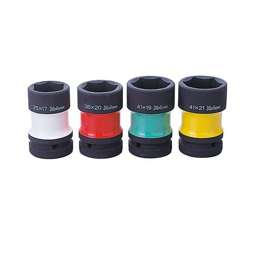 取寄 PW8P/4 PW8P/4 1(25.4mm)SQ. インパクトホイールナットソケット(コンビネーションタイプ/薄肉/色付)セット ko-ken(コーケン) 1セット