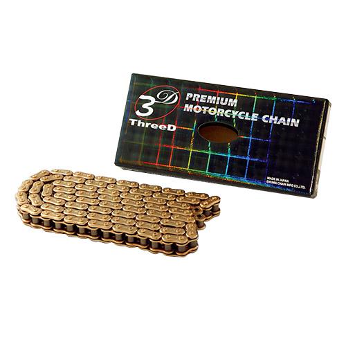 チェーン 525XZ(GP/GP)QX2-110 ThreeD 525XZ(GP/GP)QX2 110L ゴールド EKチェーン