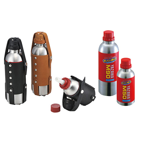 ボトル/カップ HD-04176 ガソリンボトル&レザーホルダーセット 900ccボトル/ブラック キジマ