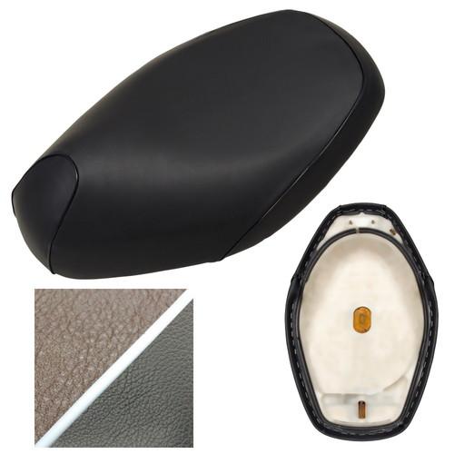 TGK5578C500C10P20 TGK5578C500C10P20 シート張替サービス エストレヤ250RS(BJ250A)一体型シートタイプ ALBA(アルバ) 生地色:ダークブラウン、サイド色:黒、パイピング色:白パイピング一周 1