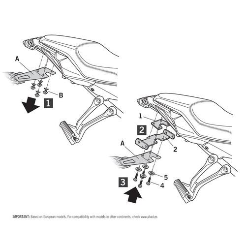 Y0MT76IF 3Pシステム フィッティングキット MT07TRACER'16 SHAD(シャッド) 1セット