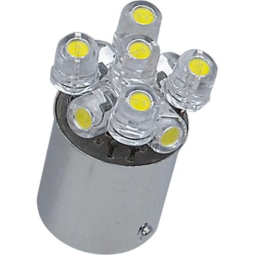 - 取寄 LED L809S WH L809S WH 12V BA15S G18用 M&H(エムアンドエイチ) ホワイト 1ケース(10個入)