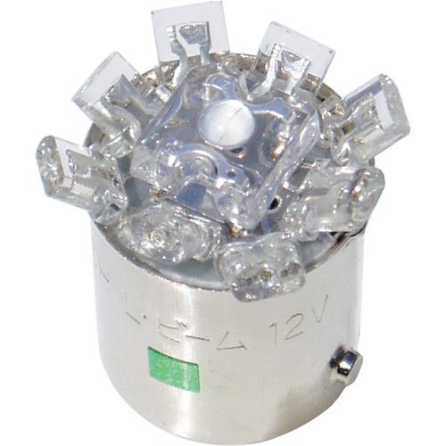 LED L742HWH L742H 12v BA15S ホワイトLED M&H ホワイト 1ケース(10個入)