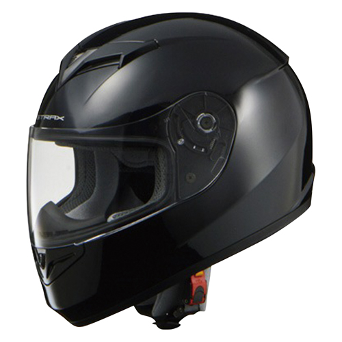 取寄 フルフェイスタイプ SF-12 STRAX SF-12 フルフェイスヘルメット ブラック M リード工業(LEAD) ブラック 1個