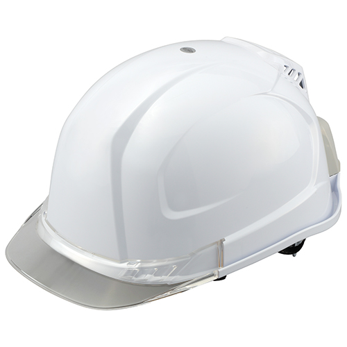 取寄 NO.395F-C 送風機内蔵ヘルメット NO.395F-C トーヨーセフティー ヘルメットカラー:白、ひさしカラー:クリア 1個