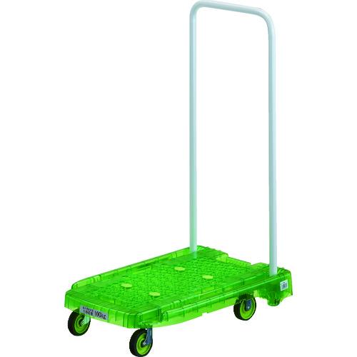 取寄 AC1PCGN 樹脂台車 アクロキャリー PC製 省音車輪 600×390 グリーン透明 TRUSCO(トラスコ) 1台