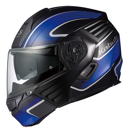 取寄 KAZAMI XCEVA フラットブラック/ブルー XL OGK(オージーケーカブト) フラットブラック/ブルー 1個