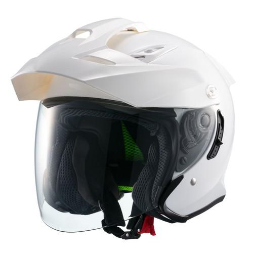 ジェット TE-1 スポーツスチルヘルメット MSJ1 TE-1 M ホワイト マルシン工業(Marushin) ホワイト 1個