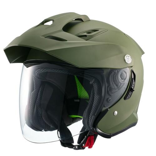 ジェット TE-1 スポーツスチルヘルメット MSJ1 TE-1 XL マットカーキ マルシン工業(Marushin) マットカーキ 1個