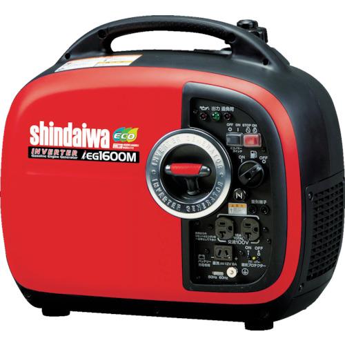 取寄 IEG1600MY 防音型インバーター発電機 1.6kVA shindaiwa(新ダイワ) タンク容量:4.2L 1台
