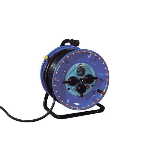 取寄 NPWL-EK33-R 防雨型電工ドラム LEDラインドラム 赤 日動工業 1台