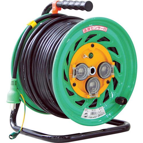 取寄 FW-E53 防雨型電工ドラム50M 日動工業 電線色:黒 1台