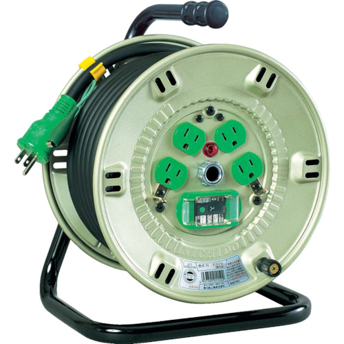取寄 NP-EB24 100V漏電遮断器付電工ドラム 日動工業 1台