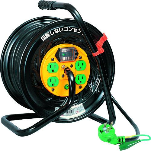 取寄 TZ-EB34 電工ドラム マジックリール 100V アース漏電遮断器付30m 日動工業 1台