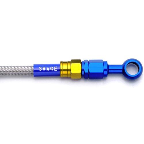 取寄 スタイル・取り回し Sスタイル PAF331 フロントホースキット ゴールド&ブルー/クリア WR250X 07-17 SWAGE-LINE(スウェッジライン) ホースカラー:クリア、ホースエンドカラー:ゴールド/ブルー 1本