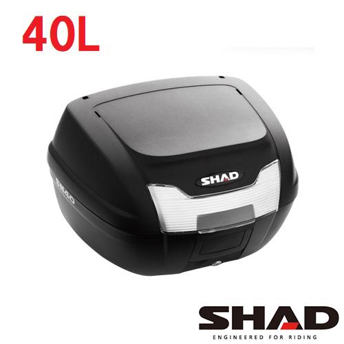 ... バイク リアボックス トップケース 2020春夏新作 40L ちょっと大きめサイズ SH40 無塗装ブラック SHAD メーカー再生品 防水性を考慮した設計 シャッド KAPPAを検討中の方にもおすすめ 通学 通勤 GIVI
