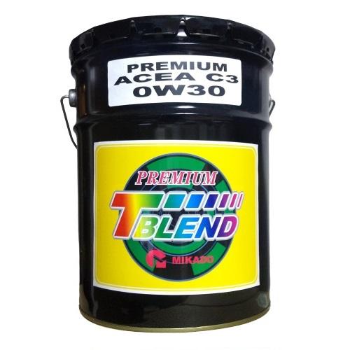 - 取寄 100%化学合成油 VHVI T-ブレンド PREMIUM C3 国内在庫 ACEA 驚きの値段で 0W-30 20L 1缶 ミカド