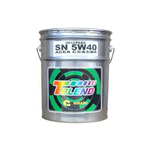 - 100%化学合成油 キャンペーンもお見逃しなく VHVI T-ブレンド ACEA 20L 1缶 ミカド 5W-40 C3 25%OFF