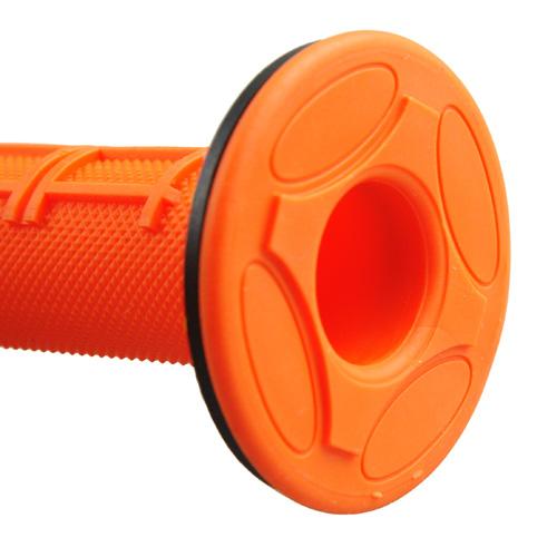 ハンドルグリップ オフロード用 オレンジ 118mm 1セット【あす楽対応】