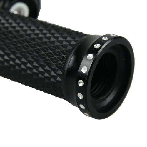 アルミハンドルグリップ ブラック 136mm 1セット【あす楽対応】