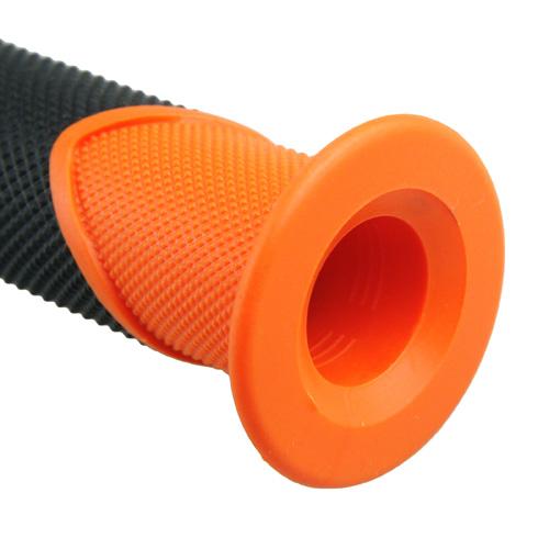 ハンドルグリップ TPE オレンジ 120mm 1セット【あす楽対応】