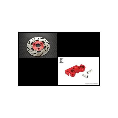取寄 JOG-DISK-RD-SET JOG系 200mm [レッドDISK/サポート] セット KN企画 レッド 1個
