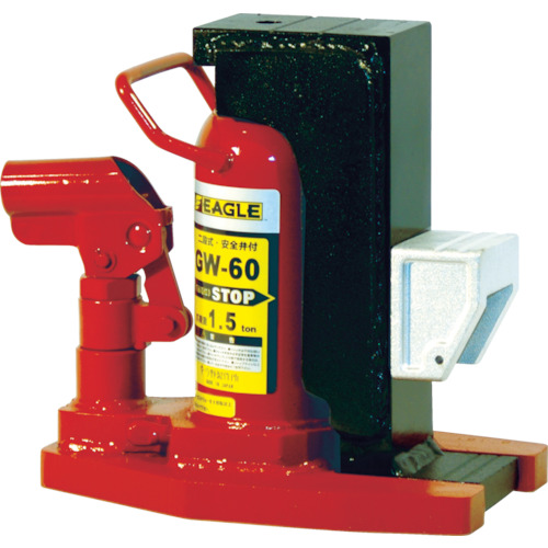 ジャッキ・油圧工具 GW-60 アタッチメントタイプ2段式爪つきジャッキ 爪能力1.5t イーグル