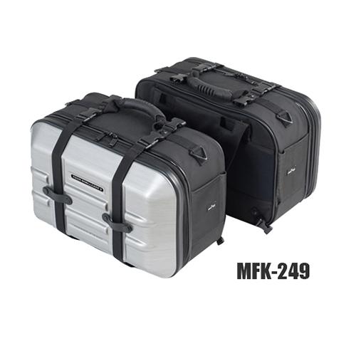 取寄 MFK-249 ツアーシェルケース2 MFK-249 TANAX(タナックス) ヘアラインシルバー 1個