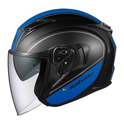 ヘルメット EXCEED DELIE(エクシード デリエ) フラットブラックブルー L OGK[オージーケーカブト]