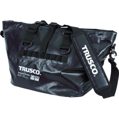 取寄 TTBL-BK 防水ターポリントートバッグ Lサイズ ブラック TRUSCO(トラスコ) ブラック 1個